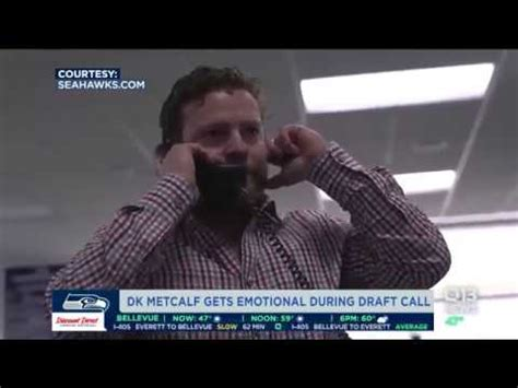 dk metcalf  emotional  draft call youtube