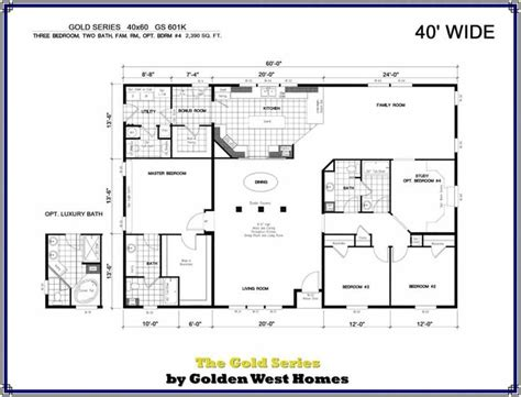 Barndominium Floor Plans 40 X 60 by 40x60 Barndominium Floor Plans Manufactured Modular Home