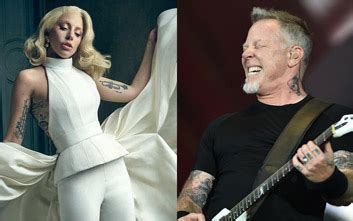 Lady Gaga and Metallica playing at the 2017 Grammy Awards ...