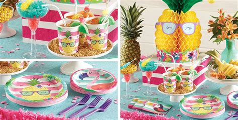 Striped Tropical Party Supplies-tropical Theme Birthday
