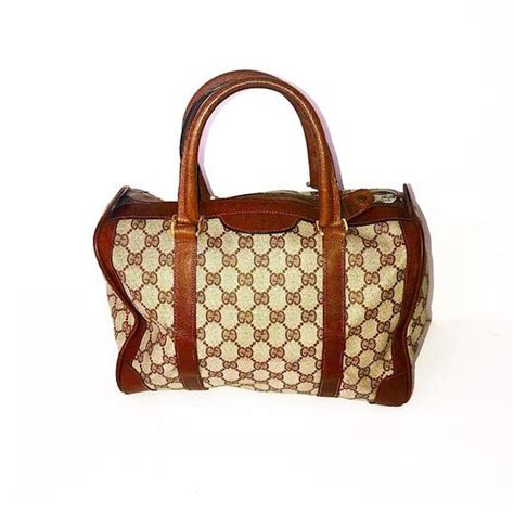gucci boston bag vintage monogram gg mini satchel tradesy