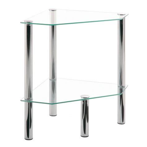 etagere d angle en verre etag 232 re d angle en verre 2 plateaux bergen matelpro