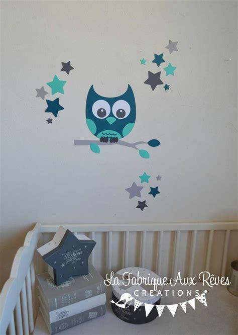 stickers chambre de bebe stickers hibou chouette décoration chambre enfant bébé