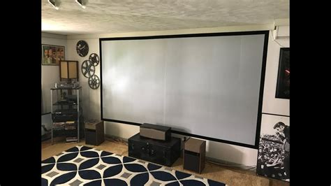 diy painted  projection screen  epson projector