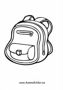 Ausmalbilder Rucksack Kleidung Malvorlagen