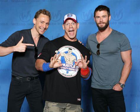 tom hiddleston john cena  chris hemsworthi didnt
