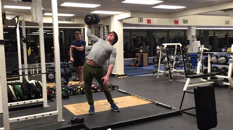 90 Pound Dumbbell Bench Press by Standing One Arm Dumbbell Press 90 Lbs For 6