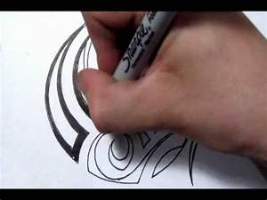 Drawing a Simple Tribal Maori Design - Quick Sketch - YouTube