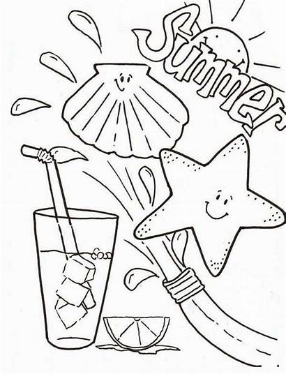 Coloring Summer Pages Summertime Drink Clothes Clothing