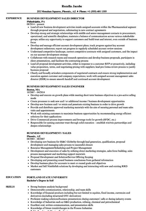 Business Development Sales Manager Resume by Sle Resume Sales Business Development Business