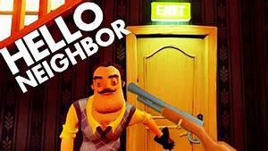 Hello Neighbor SECRETS! HOW TO KILL SHARK, FIND GUN ...