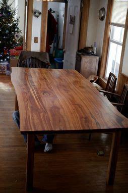 hand   edge cherry kitchen table  wooden hammer