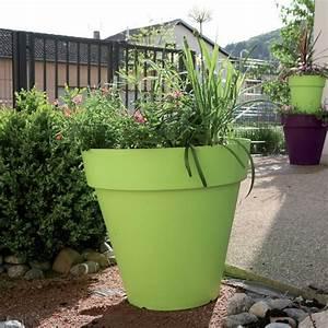 Grand Pot De Fleur Interieur : grand pot rond g ant riviera soleilla 70 vert anis r sine ~ Premium-room.com Idées de Décoration
