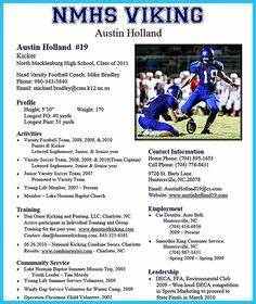 Football Player Cv Template Athletic Resume Template Free Resume Format Templates