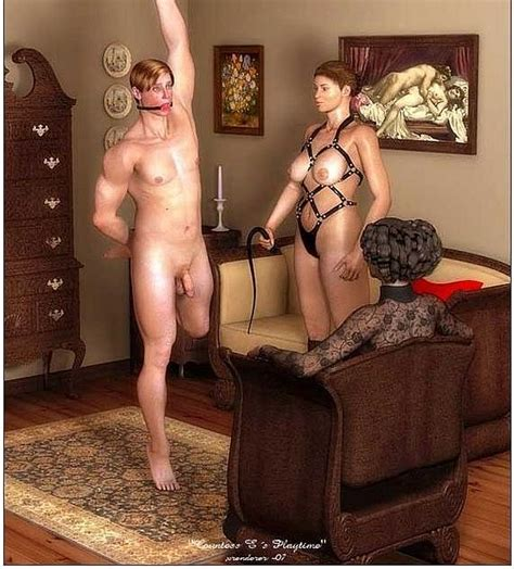 young couple naked shower