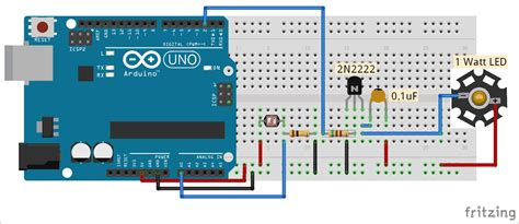 Auto Intensity Control Power Led Using Arduino