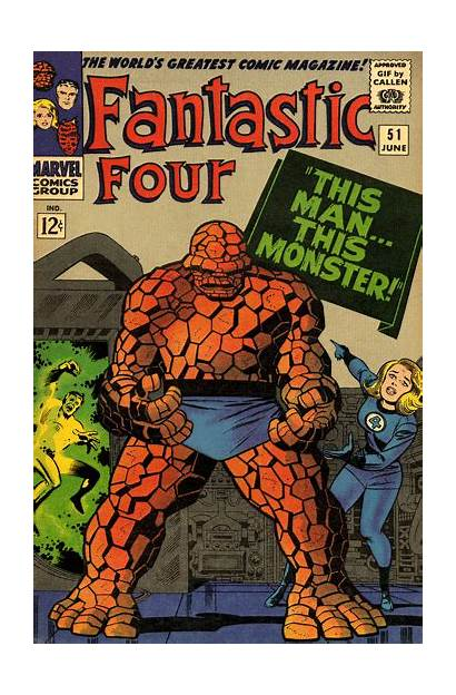 Fantastic Four Kirby Jack Comic Comics Covers