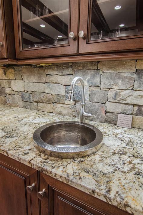 kitchen sink  stone backsplash hgtv