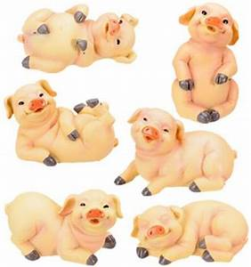 Baby Pig Statues (Set of 6) - Mandarava Gifts for the Spirit