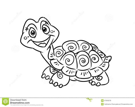 turtle fun coloring pages stock illustration illustration