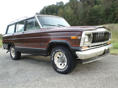 amc jeep 81 amc jeep grand cherokee chief s wagoneer 4x4 project