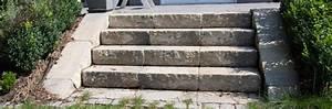 Bau Einer Holzterrasse : bau einer au entreppe aus blockstufen anleitung ~ Sanjose-hotels-ca.com Haus und Dekorationen