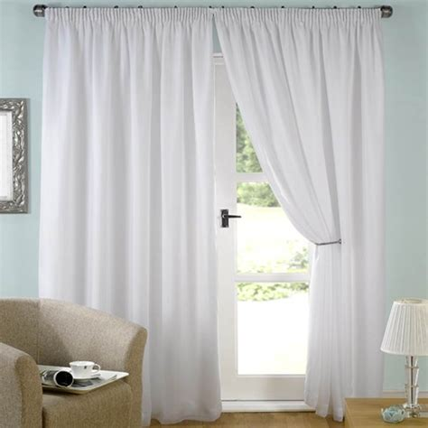 white lined curtains voile top evie all sizes