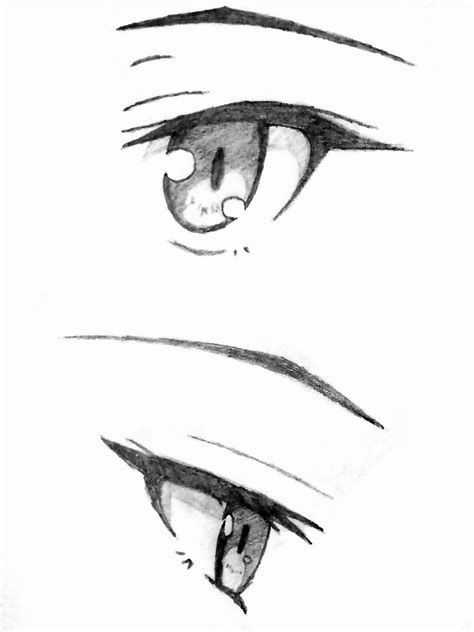 Anime Eyes From The Side Surprised Anime Eyes Side View