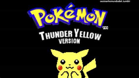 Pokemon Yellow Rom Pokemon Thunder Yellow Gba Pached By Giannissofos