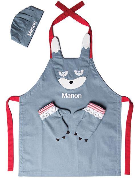 tablier et toque de cuisine tablier enfant pas cher