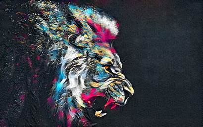 Lion Abstract Colorful Artistic Resolution Wallpapers 1080p