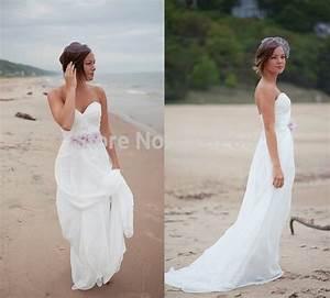 cheap beach wedding dresses 2014 a line strapless zipper With flowy beach wedding dresses