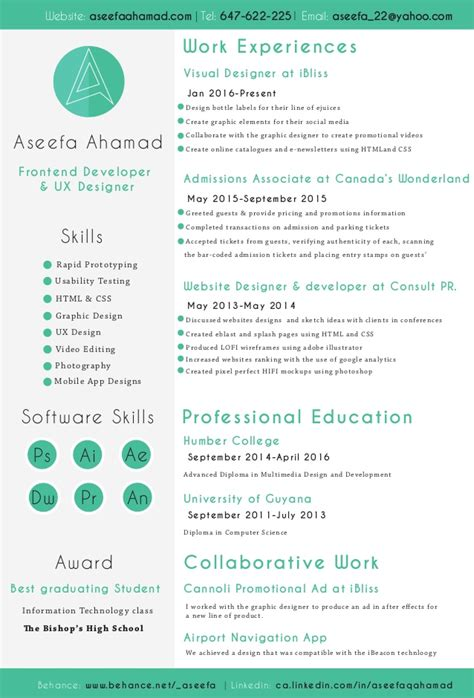 ui designer resume summary aseefa front end developer and ux designer resume