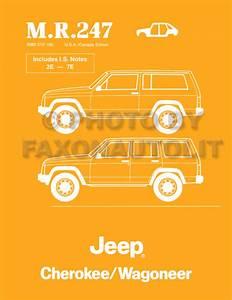 1987 Jeep Cherokee  U0026 Wagoneer Original Wiring Diagram Schematic