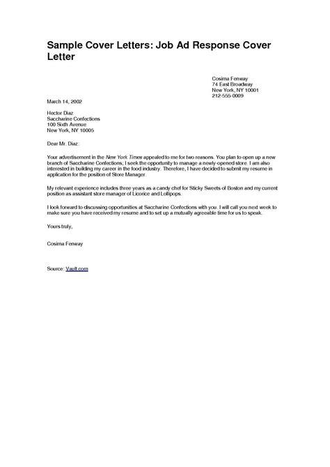 sample cover letter   format fresh application letter