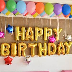 aluminum foil membrane happy birthday silver gold set With happy birthday foil balloon letters