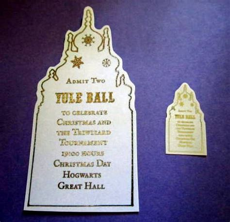 mini wizarding yule ball ticket replica prop   dolls