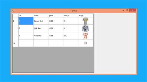 file   load csv  show image  datagridview