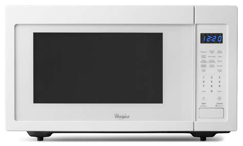 white countertop microwave ovens whirlpool wmc30516aw 1 6 cu ft 1 200w countertop