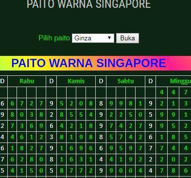 paito warna singapore minggu