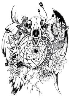160 best DreamCatcher Coloring Pages for Adults images on Pinterest in 2019
