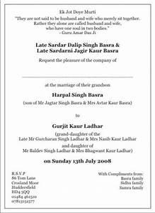sample of wedding programme sikh wedding invitation wordings sikh wedding wordings
