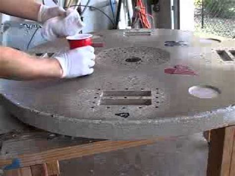 how to make a concrete table top video 5 of 5 how to make a concrete tabletop or poker