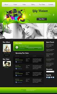 free music website template With homepage template free download