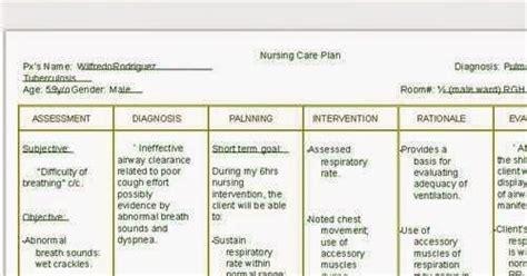 copd nursing care plan nursing care plan examples