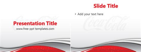 Coca Cola Powerpoint Template by Coca Cola Ppt Template Free Powerpoint Templates