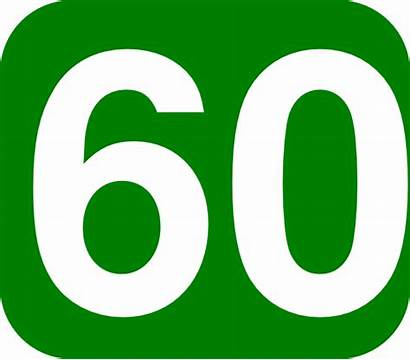 60 Number Clip Clipart Numbers Days Clker