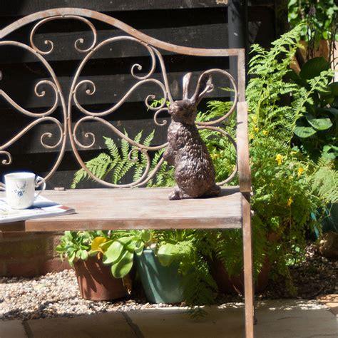 rabbit garden ornamentbronze garden rabbit sculptures