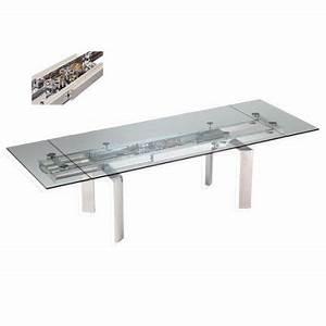 table de repas astrolab chez roche bobois table en verre With table verre roche bobois