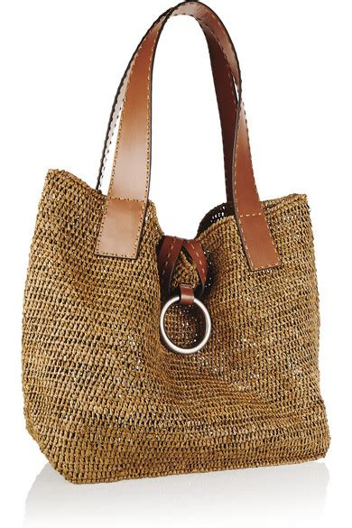 porte chequier michael kors michael kors janey large raffia and leather tote net a porter